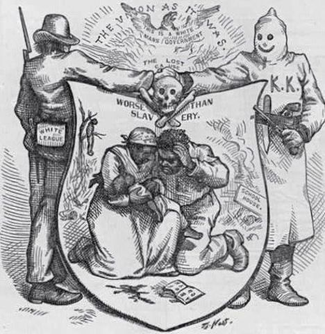 The Lost Cause Worse Than Slavery,<strong>    </strong>Thomas Nast (October 24, 1874). Reproduced from Harper's Weekly