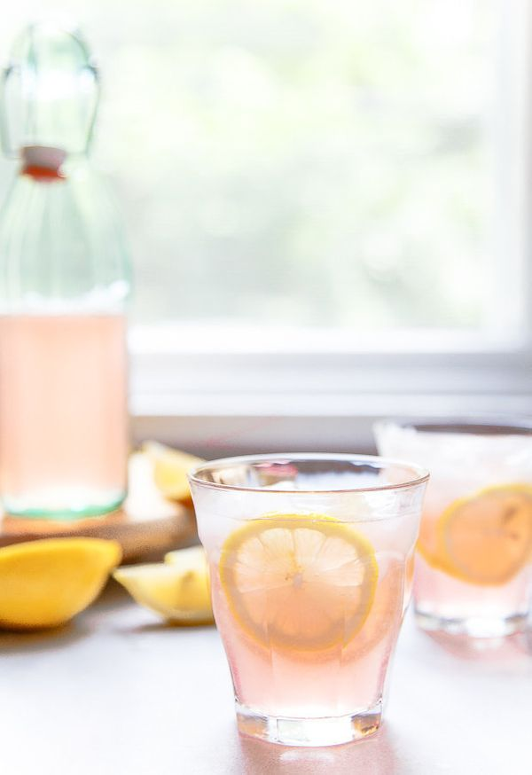 "<strong>Get the <a href=""http://www.dessertfortwo.com/rose-lemonade/"" target=""_blank"">Rosé Lemonade recipe</a>fr"
