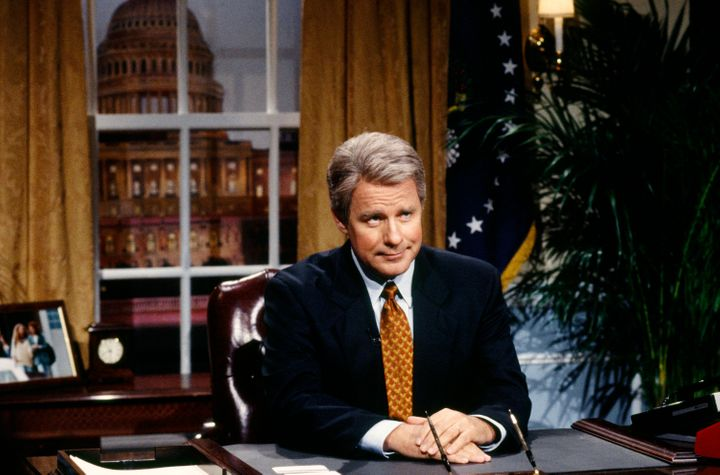 Phil Hartman portrays President Bill Clinton on Sept. 25, 1993.