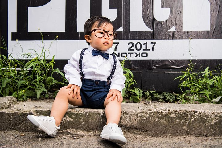 "This ""hipster babies"" photo shoot is too adorable."