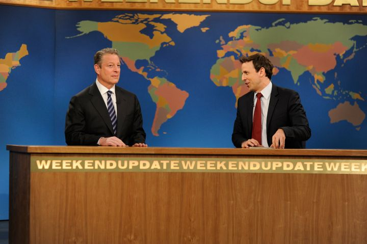 Al Gore appears alongside Seth Meyers on Nov. 21, 2009.