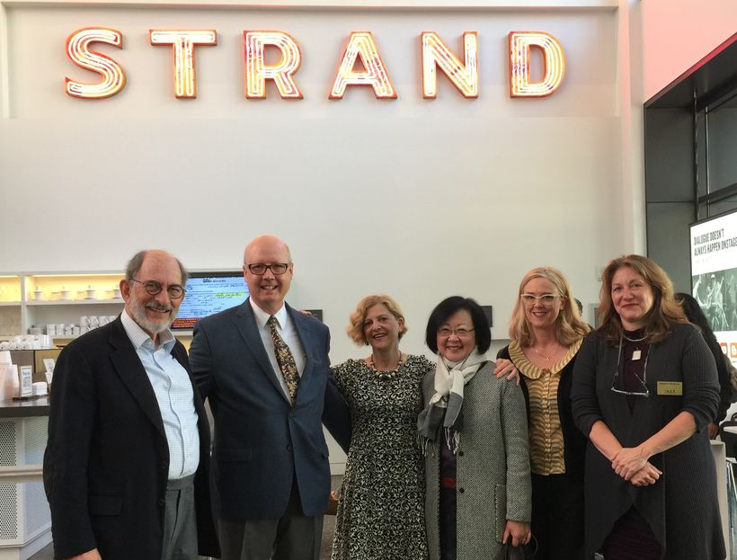 L to R: At the Strand: Peter Pastreich, Executive Director, A.C.T.; Bruce Whitacre; Carey Perloff, Artistic Director, A.C.T.;
