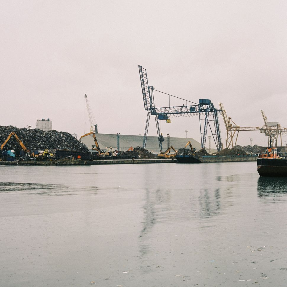 Scrap piles at Tilbury port on Jan. 12.
