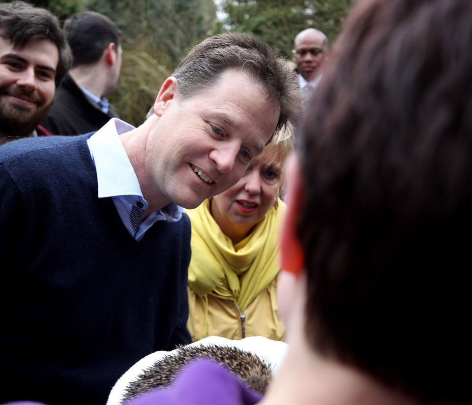 Nick Clegg with Humpty the