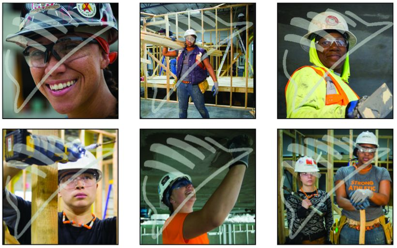 Photo of Women in the trades industry by Oregon Tradeswomen, Inc.