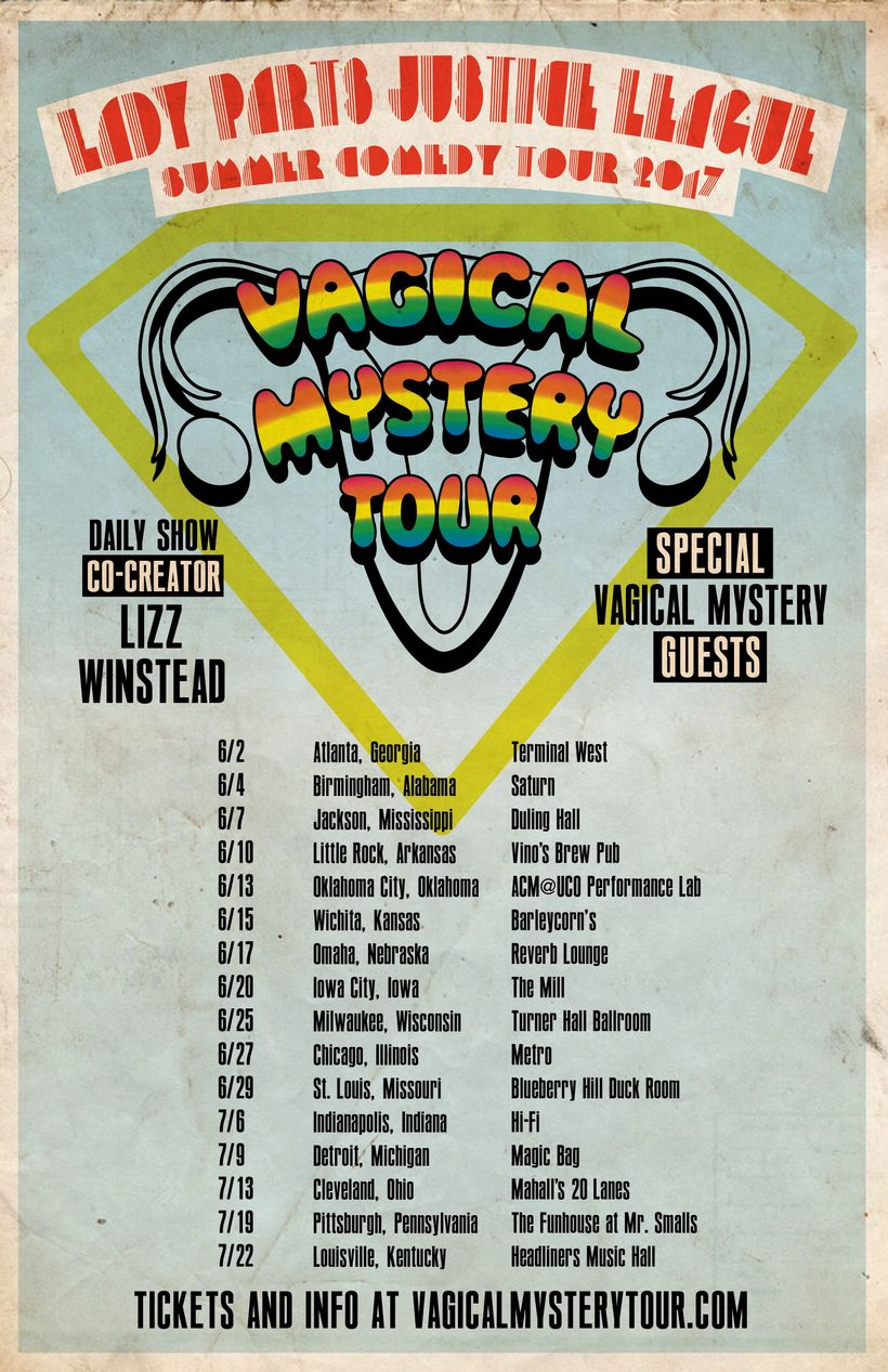 The Vagical Mystery Tour is coming to your town! (If you live in one of these 16 towns)