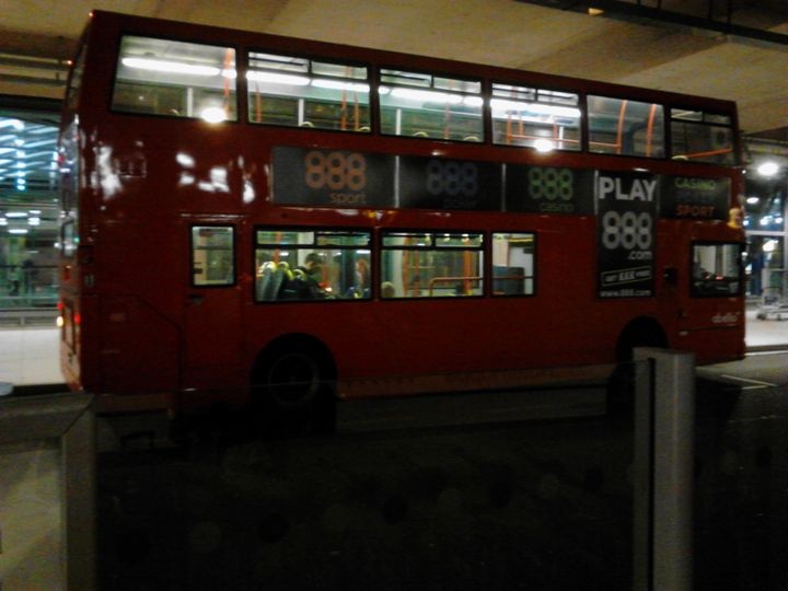 London Bus, Heathrow Airport.