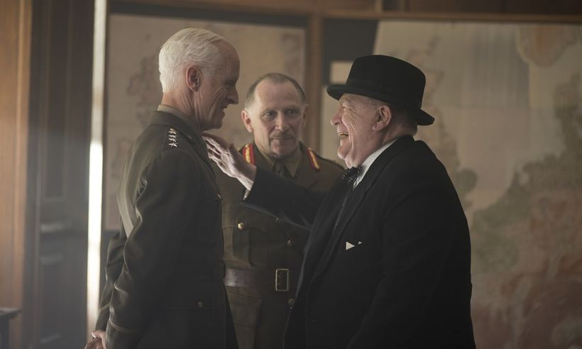 Dwight D. Eisenhower (John Slattery) and Winston Churchill (Brian Cox) lock horns in the week leading up to D-Day.