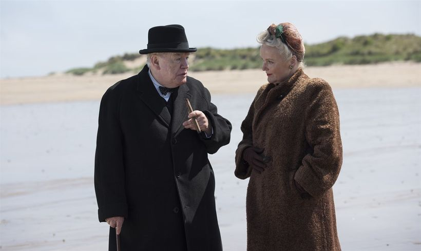 Clementine Churchill (Miranda Richardson)  acts as a moral weathervane of sorts for a sometimes volatile Winston.