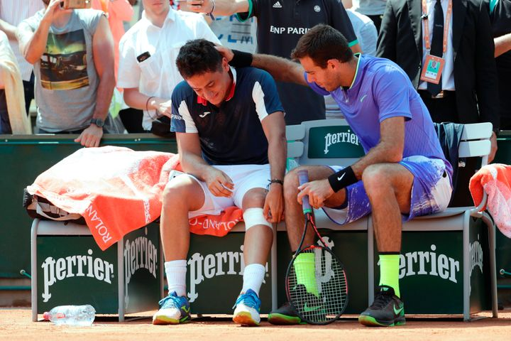 Del Potro offers support to Almagro, who also pulled out of the Italian Open because of a knee injury this month.