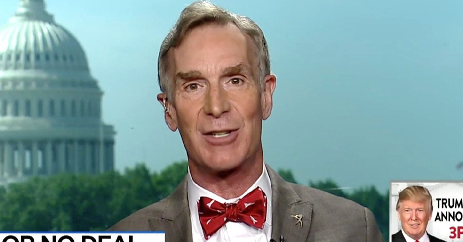Bill Nye Warns Trump On Climate: 'You Can't Build A Border Wall Against CO2 Emissions'