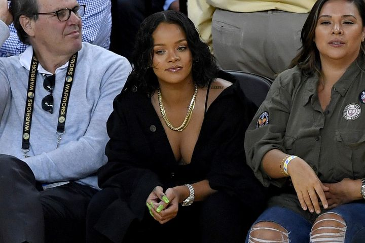 rihanna had more game than the cavaliers in nba finals game 1