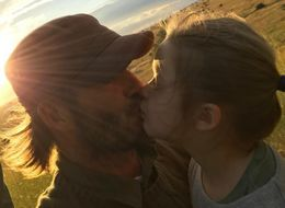 David Beckham Causes Online Debate With Photo Kissing 5-Year-Old Harper On The Lips