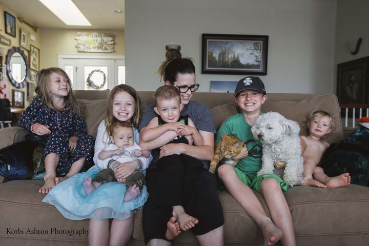 Korbi Ashton likes to document daily life with her six children.