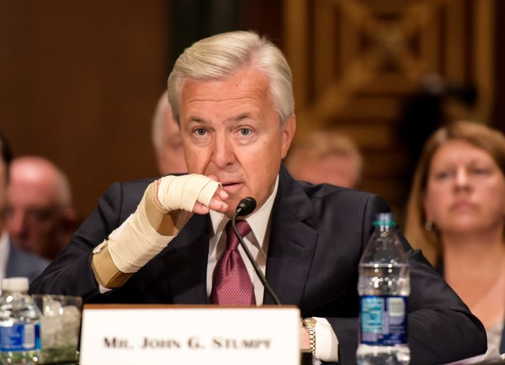 Former Wells Fargo chairman and CEO John Stumpf testified before the U.S. Senate Banking Committee on Capitol Hill