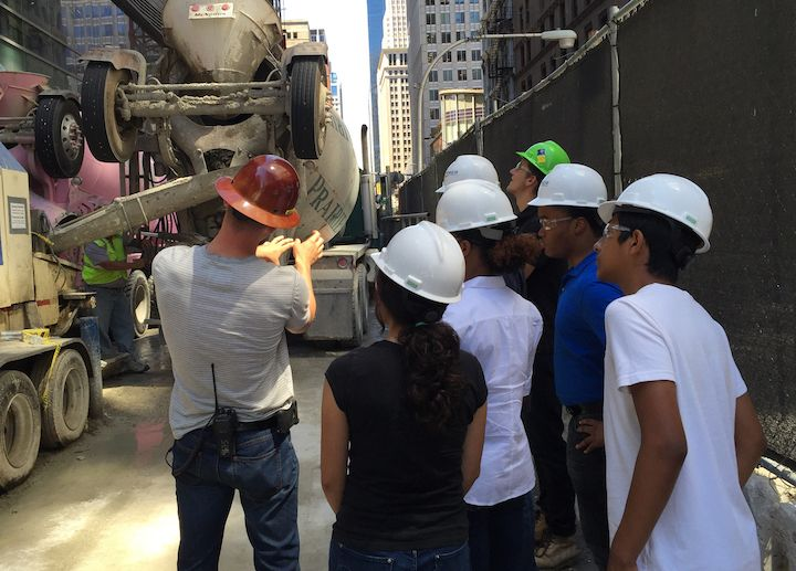 The Companies that Care AIM High program familiarizes minority high school students with the construction industry. Image cou
