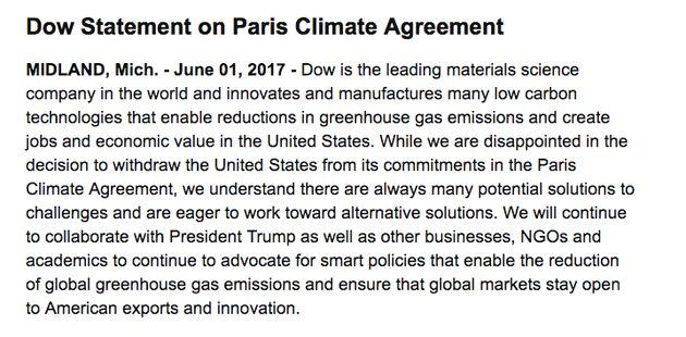 Big Business Blasts Donald Trump's Decision To Exit Paris Climate