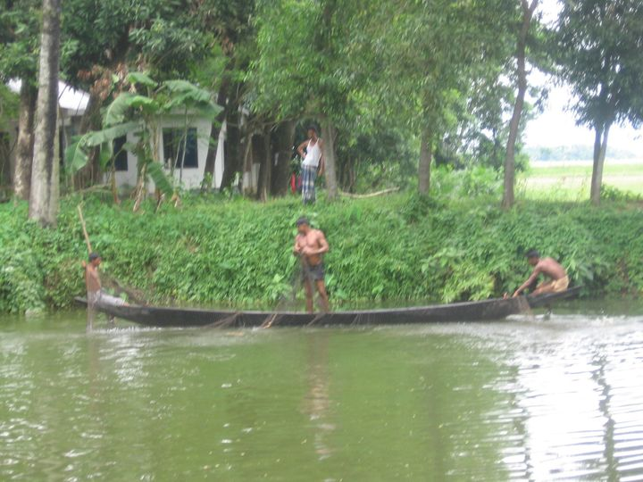 Riverine village in Sylhet