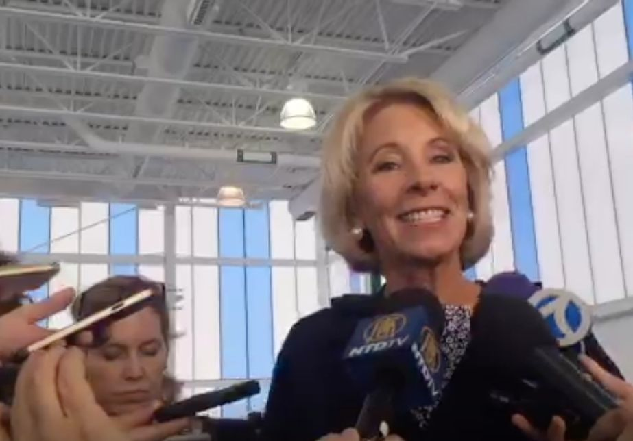 Betsy DeVos Visits Science Fair, Refuses To Talk About Climate Science