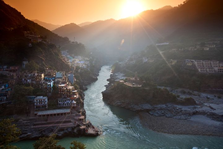 The official start of the Ganges River in Devprayag, India. Both India and China have adopted aggressive climate goals in the