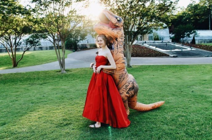 This is what a T-Rex in love looks like.