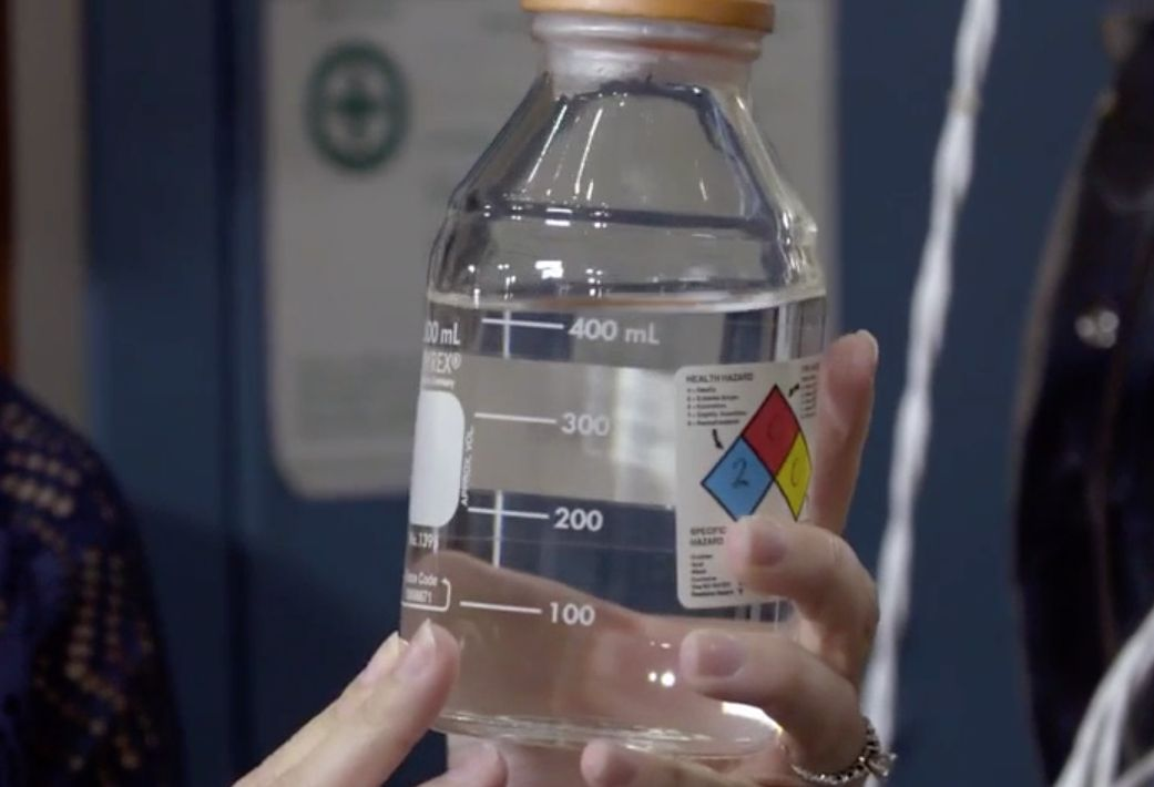 This jar contains potable water obtained from astronaut urine