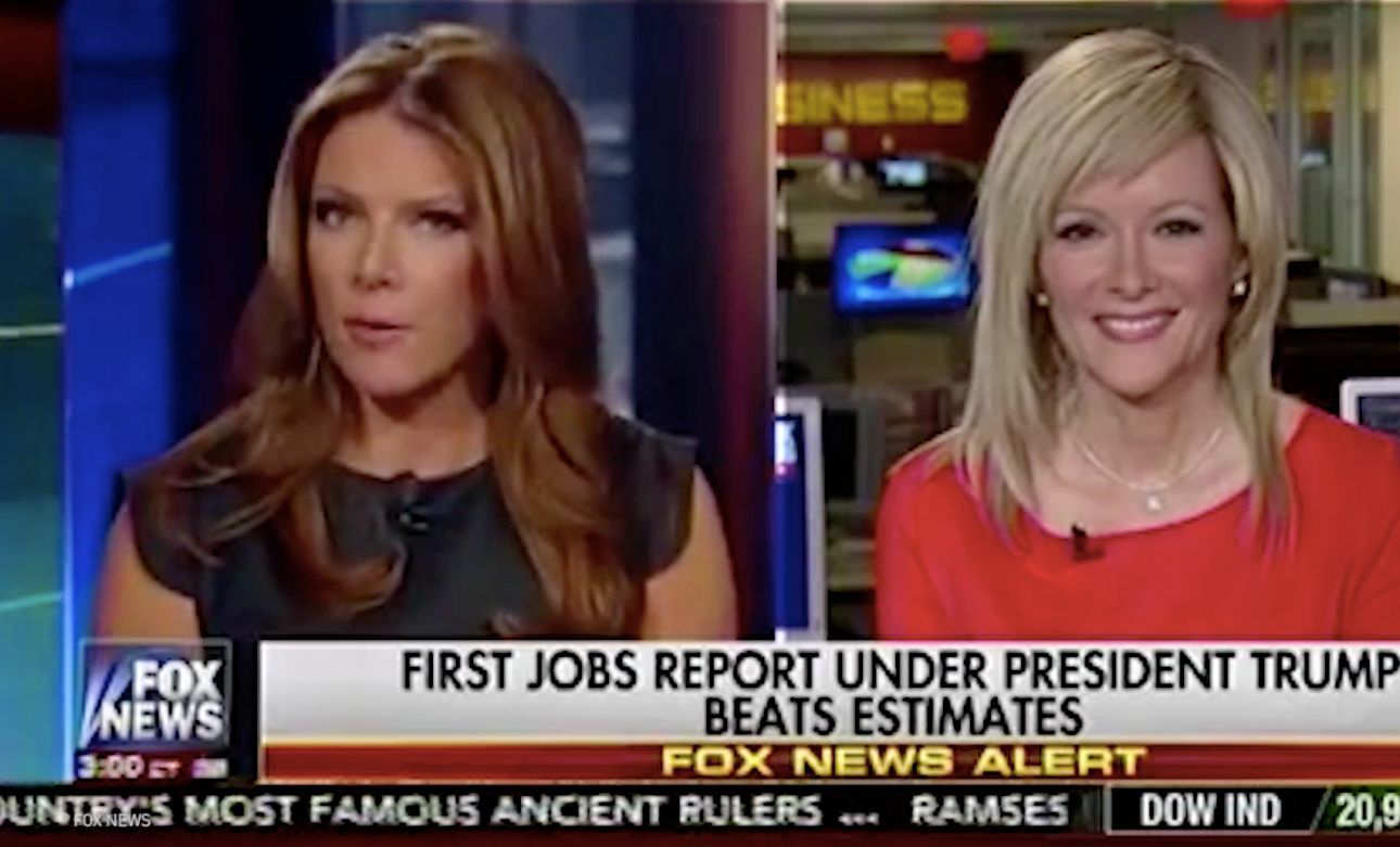 Fox News celebrated job growth under President Donald Trump but criticized former President Barack Obama for similar job numbers during his presidency