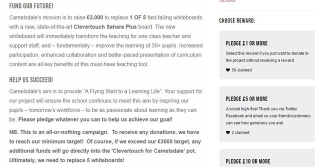 Camelsdale Primary's fundraising