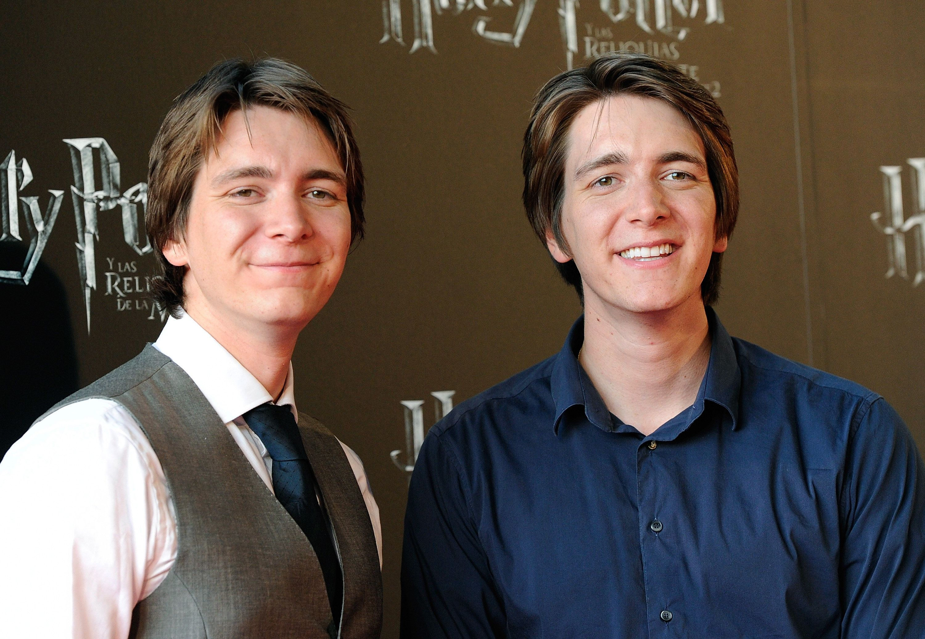 Ten points to Oliver Phelps! (On the right, with his brother James on the left.)