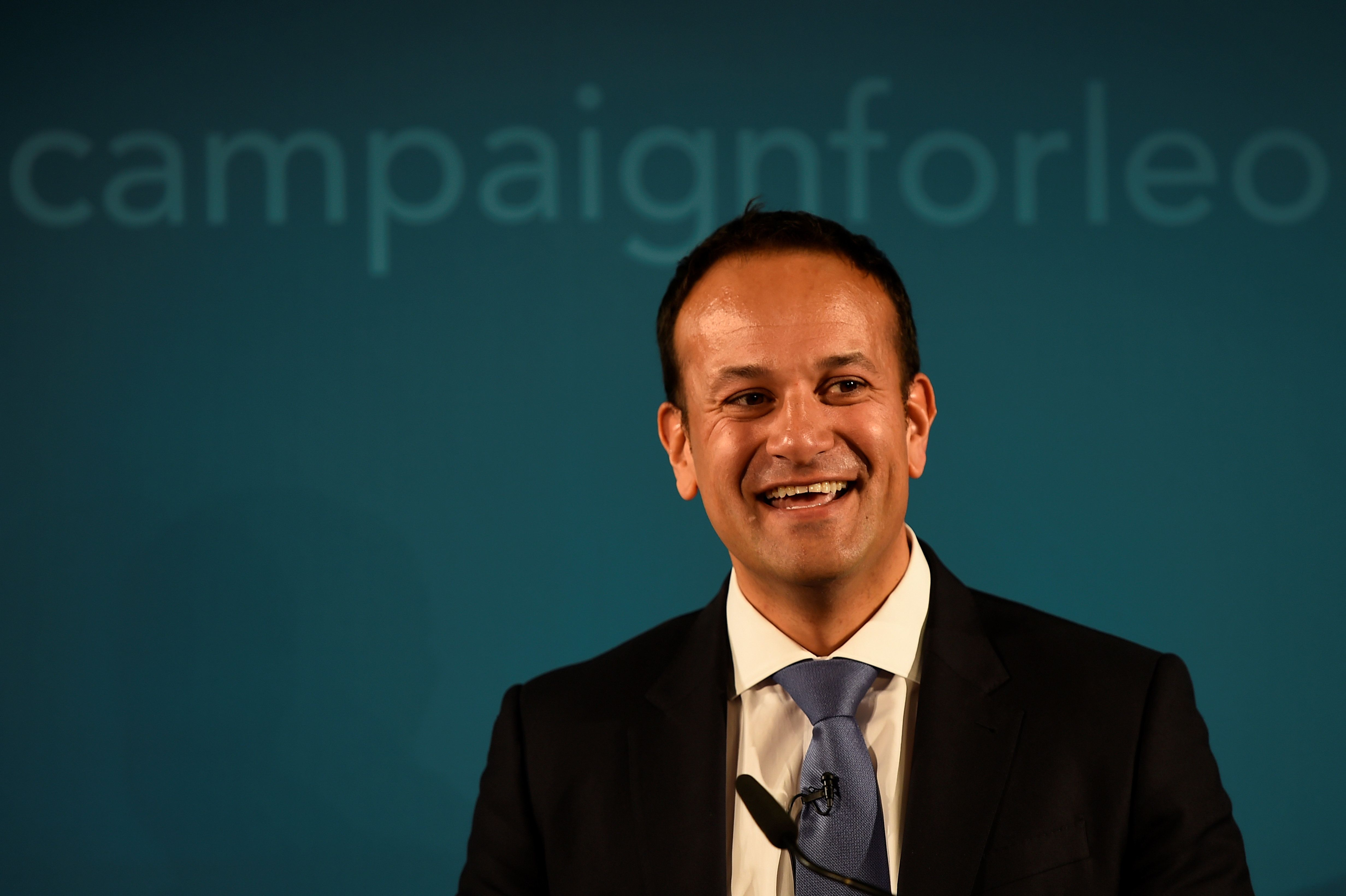 Ireland's Minister for Social Protection Leo Varadkar launches his campaign bid for Fine Gael party leader in Dublin, Ireland May 20, 2017. REUTERS/Clodagh Kilcoyne