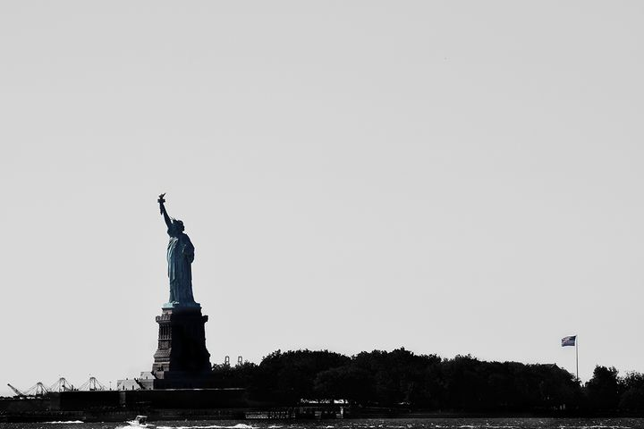 """<p>""""Give me your tired, your poor, your huddled masses yearning to breathe free, the wretched refuse of your teeming shore. Send these, the homeless, tempest-tossed to me, I lift my lamp beside the golden door"""" - <em>The New Colossus</em> by Emma Lazarus, a sonnet engraved on the pedestal of the Statue of Liberty </p>"""