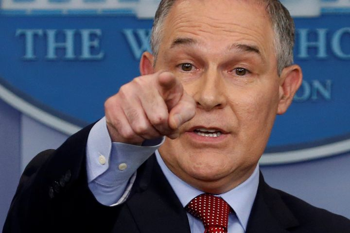 EPA Adminstrator Scott Pruitt made an appearance at the White House press briefing the day after President Donald Trump annou