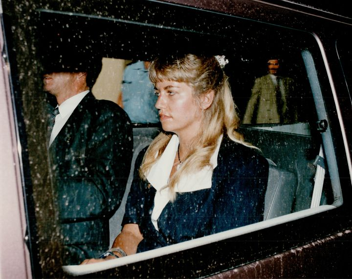 Karla Homolka as she appeared after her arrest.