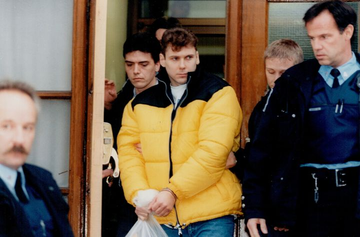 Karla Homolka's ex-husband, Paul Bernardo, after his arrest.
