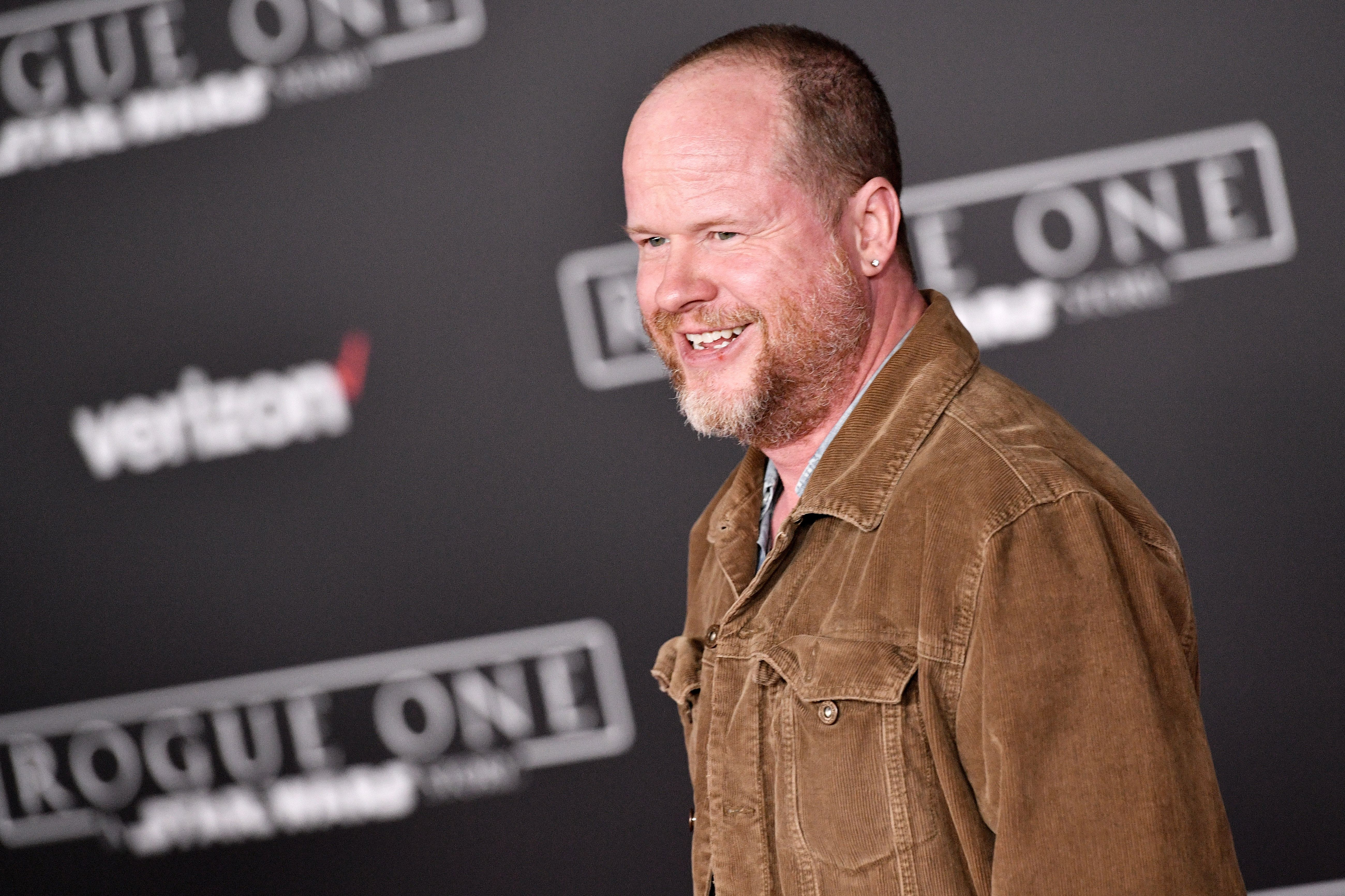 """Whedon at the premiere of """"Rogue One: A Star Wars Story' on December 10, 2016."""