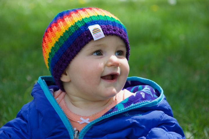 "Julie Schneider has started a Kickstarter campaign in hopes of creating what she calls ""Rainbow Hats."""
