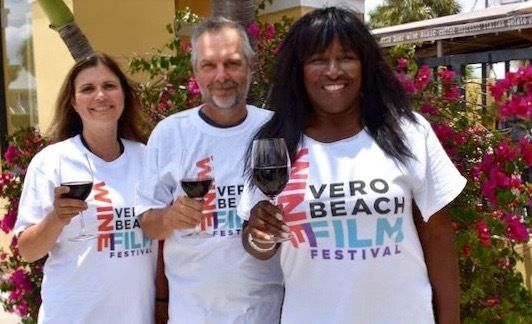Susan Horn, Jeff Woolnough and Jerusha Stewart of the Vero Beach Wine & Film Festival
