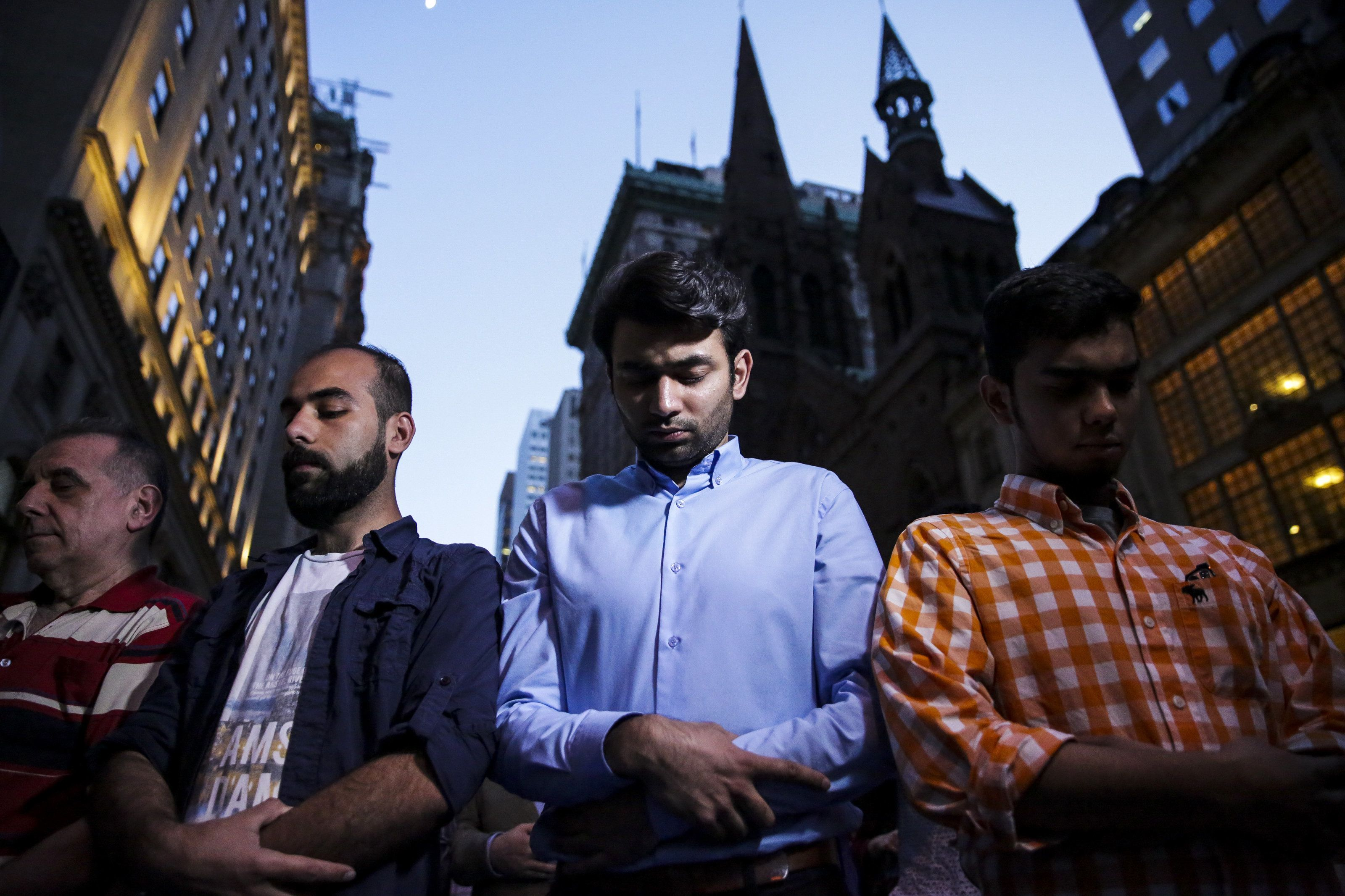 Hundreds Of Muslims And Allies Gather At Trump Tower To Break Ramadan