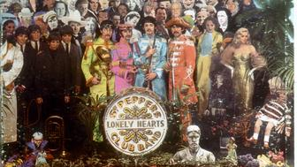 JUNE 1:  Album cover designed by art director Robert Fraser for rock and roll band 'The Beatles' album entitled 'Sgt. Pepper's Lonely Hearts Club Band' which was released on June 1, 1967. (Photo by Michael Ochs Archives/Getty Images)