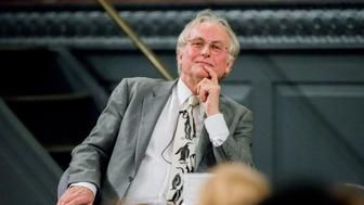 OXFORD, UNITED KINGDOM - OCTOBER 22: Professor Richard Dawkins talks to Professor Peter Atkins at Oxford University's Sheldonian Theatre on October 22, 2015 in Oxford, England.  Evolutionary Biologist and atheist, Professor Richard Dawkins, talks to Professor Peter Atkins about his work, his life and his research and writings in the majestic Sheldonian Theatre in Oxford University.  PHOTOGRAPH BY Greg Blatchford / Barcroft Media  UK Office, London. T +44 845 370 2233 W www.barcroftmedia.com  USA Office, New York City. T +1 212 796 2458 W www.barcroftusa.com  Indian Office, Delhi. T +91 11 4053 2429 W www.barcroftindia.com (Photo credit should read Greg Blatchford / Barcroft Media / Barcroft Media via Getty Images)