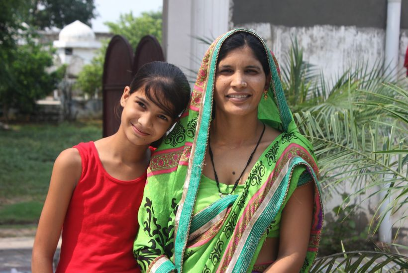 The entrepreneur Nirmala and her daughter, whom Dublish met on a trip to India