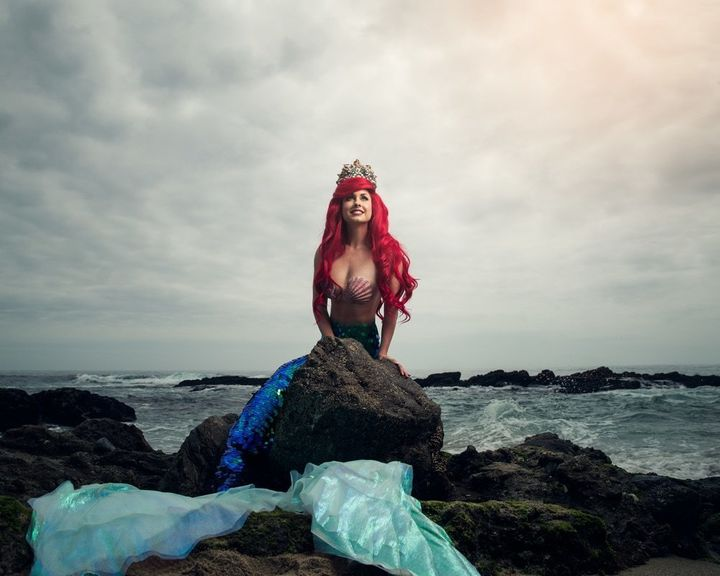 "The Little Mermaid was played by model <a href=""https://www.instagram.com/tracihines/?hl=en"" target=""_blank"">Traci Hines</a>."