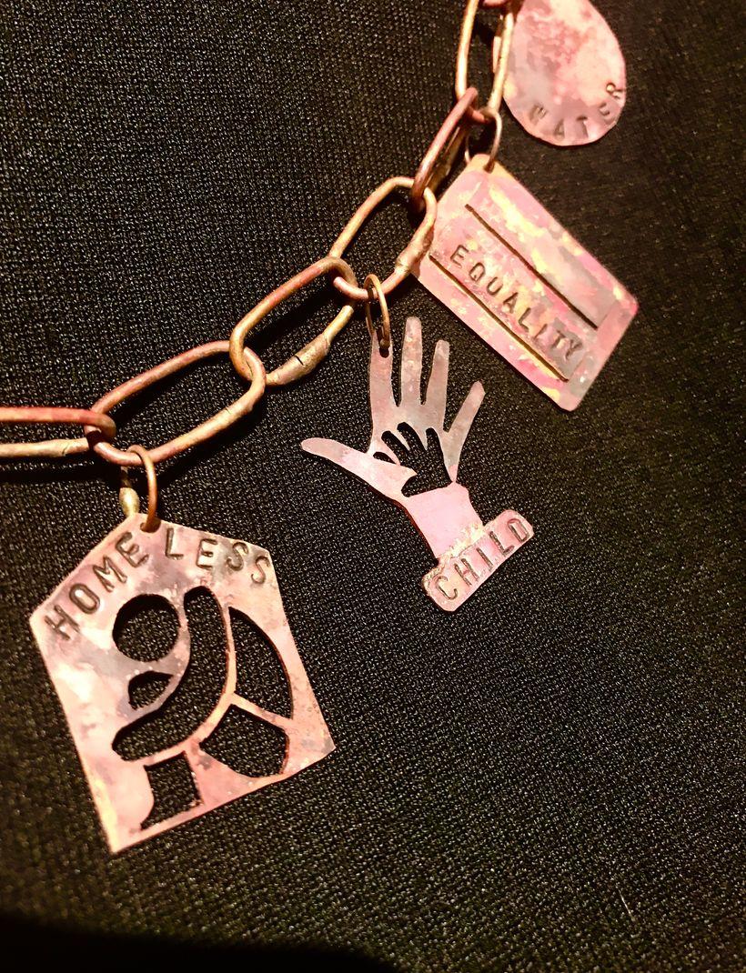 2nd Place Grad 9-12: Joey Simanek (Detail of Necklace)