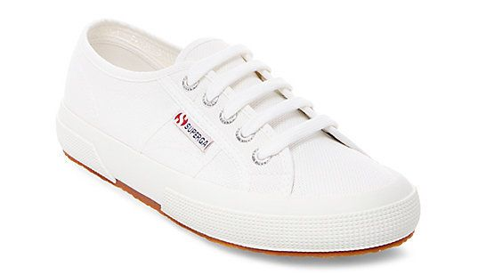 "<i>2750 cotu classic, <a href=""http://www.superga-usa.com/product/2750-COTU-CLASSIC/230217.uts?selectedColor=WHITE"" target=""_blank"">$65 at Superga</a></i>"