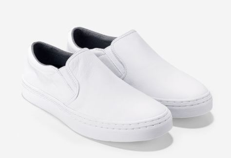 "Falmouth slip on, <a href=""http://www.colehaan.com/falmouth-slip-on-white/C14534.html"" target=""_blank"">$59.95 at Cole Haan</a"