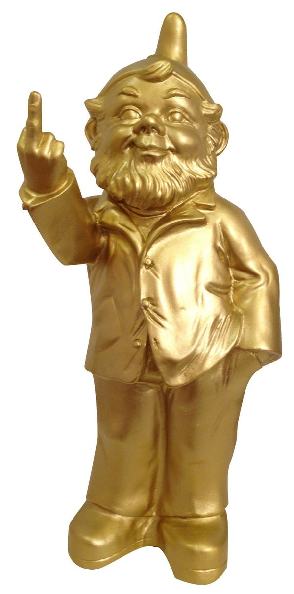 "If your father is a man of few words and only one finger, he's sure to flip over this statue of <a href=""https://www.thefownd"