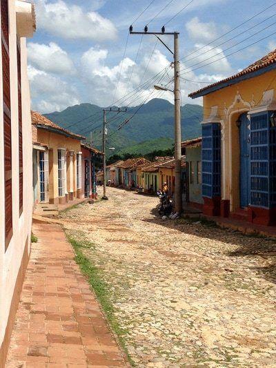 Winding street in Trinidad