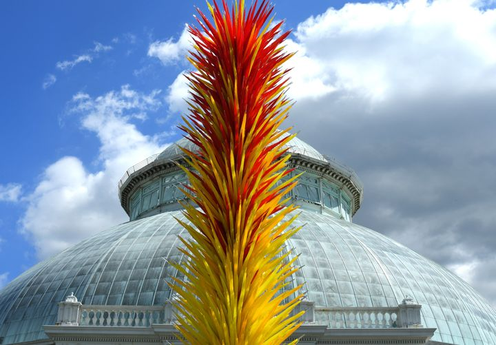 Another of Chihuly's works on view at the New York Botanical Garden.