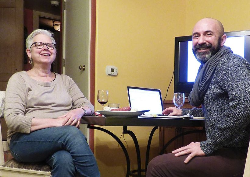 Rebecca Crowell and Jerry McLaughlin in New Mexico