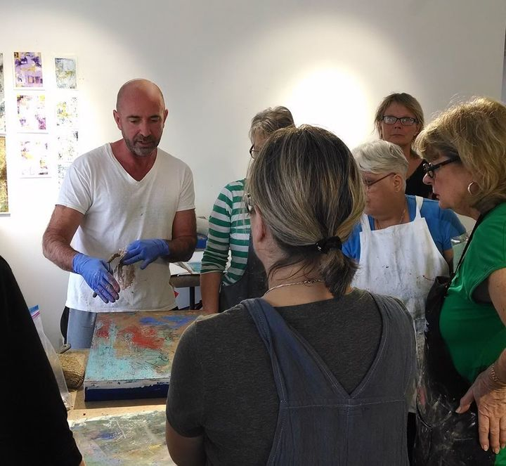 <p>Jerry McLaughlin teaching a workshop</p>